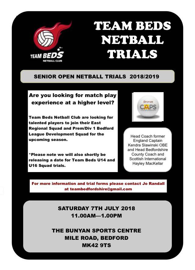 Team Beds Trials